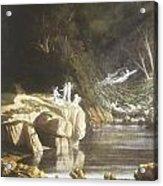 Fairies By A Rocky Stream Acrylic Print by Francis Danby
