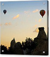Fairy Chimneys And Balloons Acrylic Print by RicardMN Photography