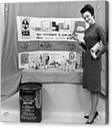 Fallout Shelter Supplies, Usa, Cold War Acrylic Print by Us National Archives And Records Administration
