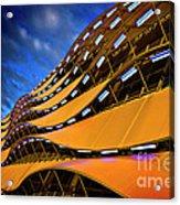 Fancy Cardiff Carpark Facade Acrylic Print by Meirion Matthias