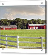 Farm Pasture Acrylic Print by Brian Wallace