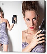 Fashion Collage Acrylic Print by Ralf Kaiser