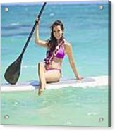 Female Paddler II Acrylic Print by Tomas del Amo