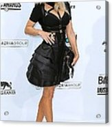 Fergie Wearing A Herve Leger By Max Acrylic Print by Everett