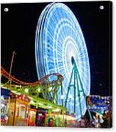 Ferris Wheel At Night Acrylic Print by Stelios Kleanthous