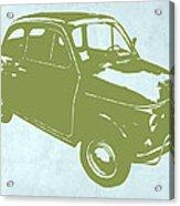 Fiat 500 Acrylic Print by Naxart Studio