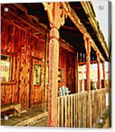 Fiddletown Saloon Acrylic Print by Cheryl Young