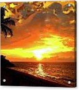 Fiery Sunset Acrylic Print by Yiries Saad