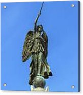 Figure Of Winged Victory At Gettysburg Acrylic Print by Randy Steele