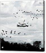 Final Flight Of The Enterprise Acrylic Print by Tolga Cetin