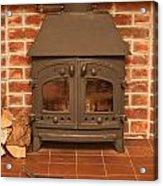 Fireplace Acrylic Print by Tom Gowanlock