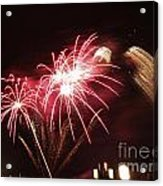 Firework Display Acrylic Print by Bernard Jaubert