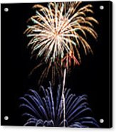 Fireworks  Abound Acrylic Print by Bill Pevlor
