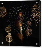 Fireworks Acrylic Print by Bill Cannon