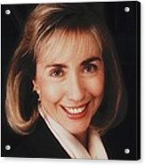 First Lady Hillary Clinton In A 1992 Acrylic Print by Everett
