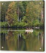 Fish Creek Pond In Adirondack Park - New York Acrylic Print by Brendan Reals