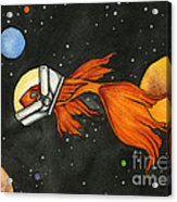 Fish In Space Acrylic Print by Nora Blansett