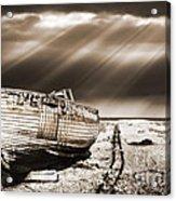 Fishing Boat Graveyard 9 Acrylic Print by Meirion Matthias