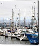 Fishing Boats In Pillar Point Harbor At Half Moon Bay California . 7d8208 Acrylic Print by Wingsdomain Art and Photography