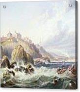 Fishing Boats Off Scotland Acrylic Print by John Wilson Carmichael