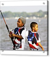 Fishing Brothers Acrylic Print by Brian Wallace