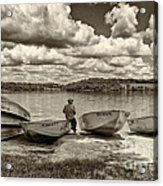 Fishing By The Boats 2 Acrylic Print by Jack Paolini