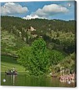 Fishing On Horsetooth Reservoir Acrylic Print by Harry Strharsky