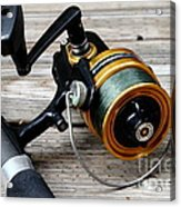Fishing Rod And Reel . 7d13549 Acrylic Print by Wingsdomain Art and Photography
