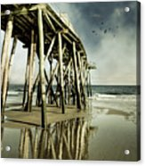 Fishing Shack Pier Acrylic Print by Jody Trappe Photography