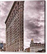 Flat Iron Building Acrylic Print by Michael Dorn