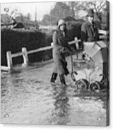 Flooding At Twyford Acrylic Print by Reg Speller