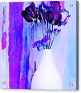 Floral Abstract Signed Acrylic Print by Marsha Heiken