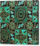 Floral Fabric Pattern Acrylic Print by Phalakon Jaisangat