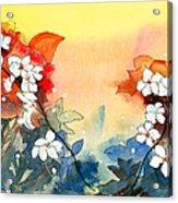 Floral Neklace Acrylic Print by Anil Nene