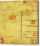 Floral Pattern On Old Postcard Acrylic Print by Setsiri Silapasuwanchai
