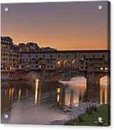 Florence - Ponte Vecchio Acrylic Print by Joana Kruse