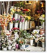 Flower Shop Acrylic Print by Heather Applegate