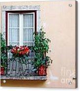 Flowery Balcony Acrylic Print by Carlos Caetano