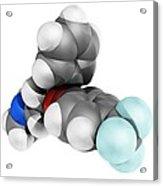 Fluoxetine Antidepressant Drug Molecule Acrylic Print by Laguna Design