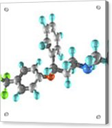 Fluoxetine Drug Molecule Acrylic Print by Laguna Design