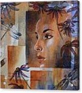 Flying Woman Acrylic Print by Patsy Sharpe