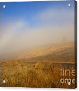 Fog Bow At Lookout Point Acrylic Print by Mike  Dawson