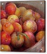 Food - Peaches - Farm Fresh Peaches  Acrylic Print by Mike Savad