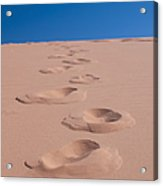 Footprints In The Sand Acrylic Print by Dave & Les Jacobs