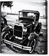 Ford Model T Film Noir Acrylic Print by Bill Cannon