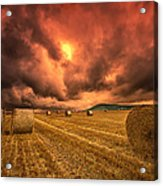 Foreboding Sky Acrylic Print by Mark Leader