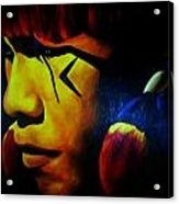 Foreign Face Paint Acrylic Print by Unique Consignment
