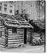 fort nashborough stockade recreation Nashville Tennessee USA Acrylic Print by Joe Fox