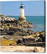Fort Pickering Lighthouse Acrylic Print by Catherine Reusch  Daley