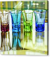 Four Vodka Glasses Acrylic Print by Svetlana Sewell